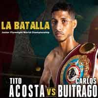 Angel Acosta vs Carlos Buitrago full fight Video 2018 WBO