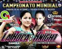 Ava Knight vs Ibeth Zamora Silva - full fight Video pelea WBC 2013