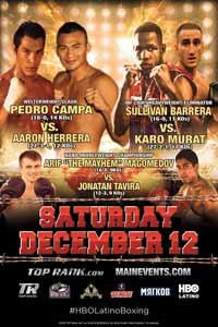 Sullivan Barrera vs Karo Murat - fight Video 2015 result