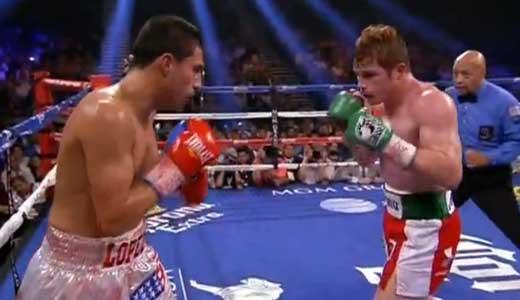 Video - Saul Alvarez vs Josesito Lopez - full fight video pelea WBC title