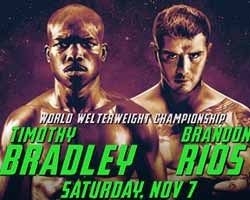 Timothy Bradley vs Brandon Rios - full fight Video WBO 2015