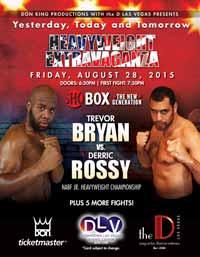 Derric Rossy vs Trevor Bryan - full fight Video 2015 result