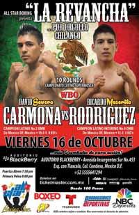 David Carmona vs Rodriguez 2 - full fight Video 2015 pelea