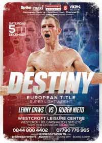 Lenny Daws vs Ruben Nieto - full fight Video 2015 result