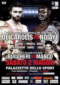 De Carolis vs Ali Ndiaye - full fight Video 2015 result