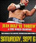 Juan Diaz vs Carlos Cardenas - fight Video 2014-09-06, result