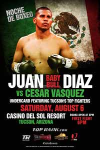 Juan Diaz vs Cesar Vazquez - fight Video 2016 result