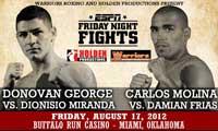 Video - Carlos Molina vs Damian Frias - full fight video