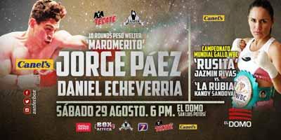 Jorge Paez Jr vs Daniel Echeverria - full fight Video 2015 pelea