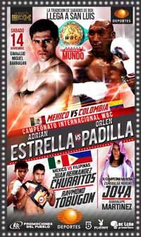 Adrian Estrella vs Orlen Padilla - full fight Video 2015 pelea