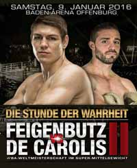 Vincent Feigenbutz vs De Carolis 2 - full fight Video 2016 WBA