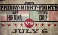 Video - Javier Fortuna vs Cristobal Cruz - full fight video pelea