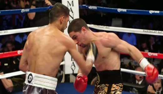 Video - Amir Khan vs Danny Garcia - full fight video WBC, WBA titles