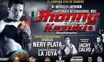 Jhonny Gonzalez vs Hashimoto - full fight Video 2015 pelea