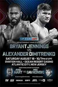 Bryant Jennings vs Alexander Dimitrenko fight video 2018