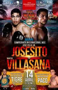 Jose Felix Jr vs Marcos Villasana full fight Video 2018