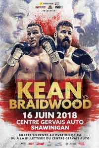 Simon Kean vs Adam Braidwood full fight Video 2018
