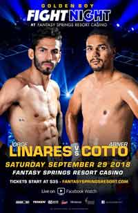 Jorge Linares vs Abner Cotto full fight Video 2018