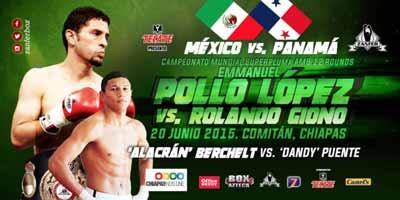Emanuel Lopez vs Rolando Giono - full fight Video 2015 WBA