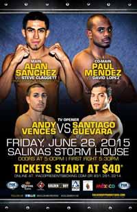 Paul Mendez vs David Lopez - full fight Video 2015 result