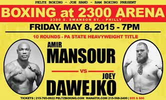 Amir Mansour vs Joey Dawejko - full fight Video 2015 result