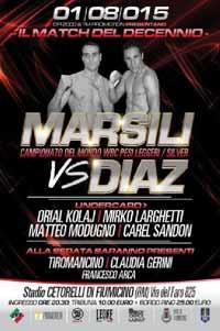 Marsili vs Gamaliel Diaz - full fight Video 2015 pelea