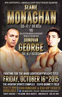 Sean Monaghan vs Don George - fight Video 2015 result