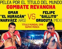 Omar Narvaez vs Felipe Orucuta 2 - full fight Video pelea 2014