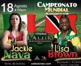 Video - Jackie Nava vs Lisa Brown - fight video pelea WBA title