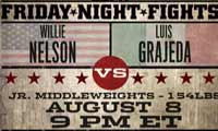 Willie Nelson vs Luis Grajeda - full fight Video 2014, result