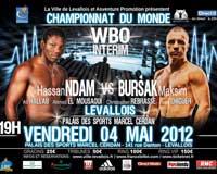Video - Hassan N'Dam N'Jikam vs Max Bursak - full fight video WBO