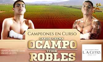 Carlos Ocampo vs Alvaro Robles - full fight Video 2016