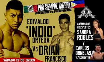 Edivaldo Ortega vs Drian Francisco full fight Video 2018