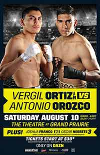 Vergil Ortiz Jr vs Antonio Orozco full fight Video 2019