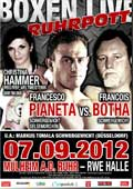 Video - Francesco Pianeta vs Francois Botha - full fight video