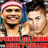 Ponce De Leon vs Miguel Roman full fight Video pelea 2014