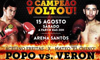 Acelino Freitas vs Mateo Veron - full fight Video 2015 luta