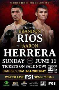Brandon Rios vs Aaron Herrera - full fight Video 2017