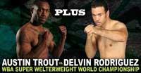 Austin Trout vs Delvin Rodriguez - full fight Video pelea WBA title