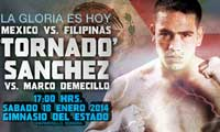 David Sanchez vs Marco Demecillo - full fight Video pelea 2014