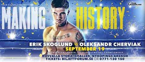 Erik Skoglund vs Oleksandr Cherviak - full fight Video 2015