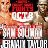Jermain Taylor vs Sam Soliman - full fight Video IBF 2014 result