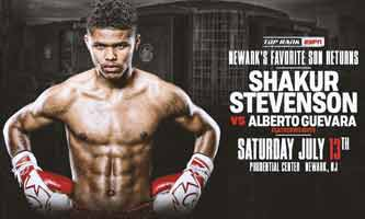 Shakur Stevenson vs Alberto Guevara fight video 2019