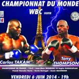 Carlos Takam vs Tony Thompson - full fight Video 2014 result