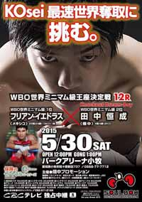 Kosei Tanaka vs Julian Yedras - full fight Video 2015 WBO