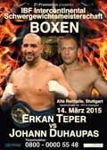 Erkan Teper vs Johann Duhaupas - full fight Video 2015 result