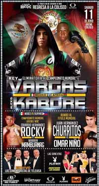 Rey Vargas vs Alexis Kabore - full fight Video 2016 result