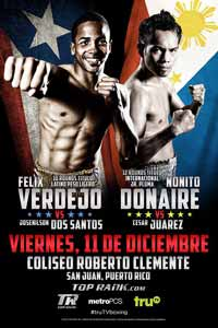 Felix Verdejo vs Josenilson Dos Santos - fight Video 2015 result