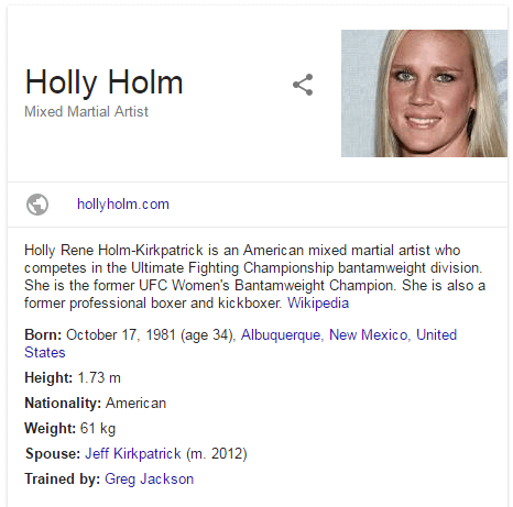 Holly Holm Bio