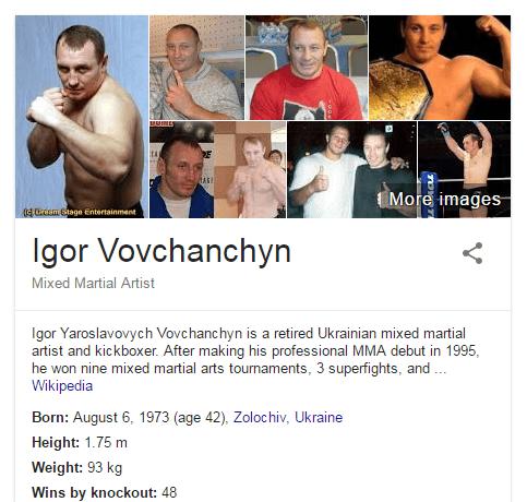 Igor Vovchanchyn Bio